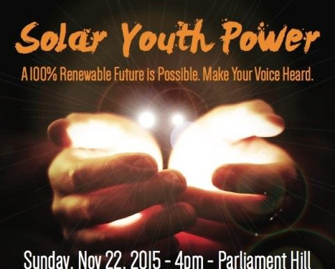 Solar Youth Power on Parliament Hill, boomer warrior