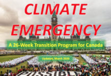 A 26-WeeK Climate Emergency Transition Program For Canada (Weeks 1-8), Below2C
