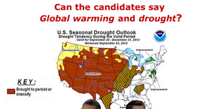 Can the candidates say global warming and drought?