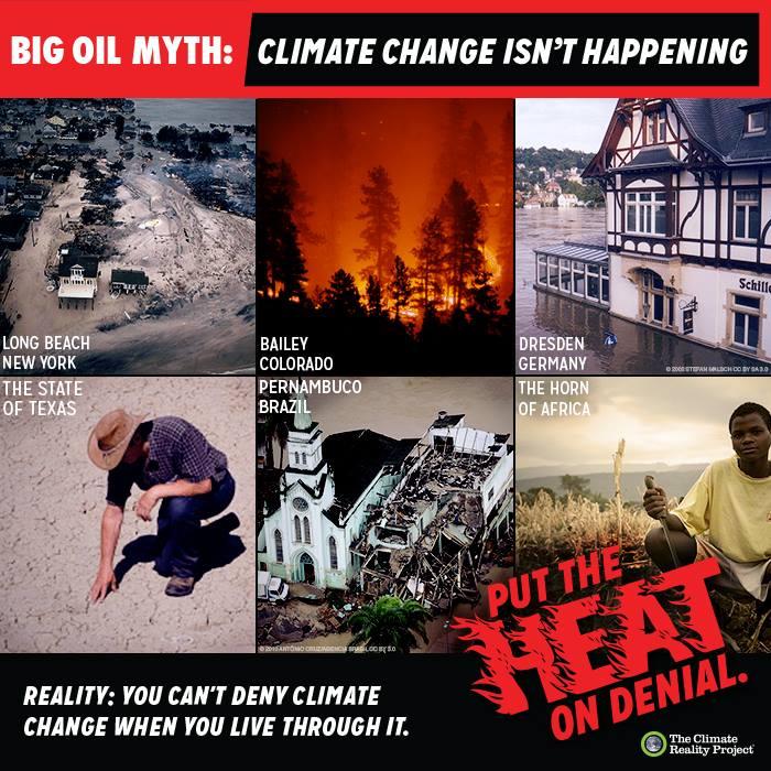Put the heat on denial