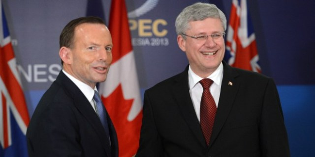 Stephen Harper and Tony Abbott - Axis of Carbon Evil Twins, boomer warrior