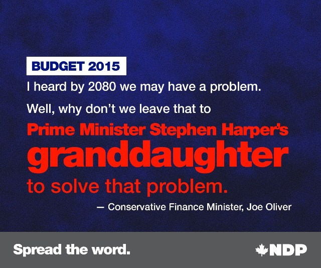 New Climate Policy for Canada - Leave the problem for our grandchildren, boomer warrior