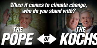 Pope or Kochs - Who Will Win the Climate War, boomer warrior