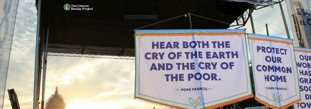We Stand With Pope Francis - Climate Leader and Chemist, boomer warrrior
