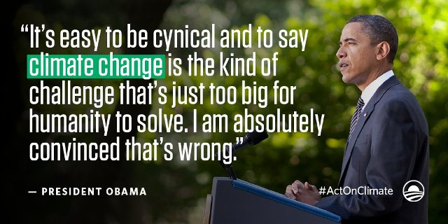 Barack Obama - the Climate President, boomer warrior