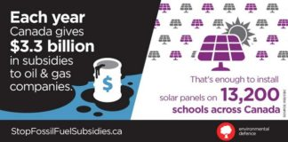 Canada's Massive Fossil Fuel Subsidies Equals $100 Per Person, Below2C