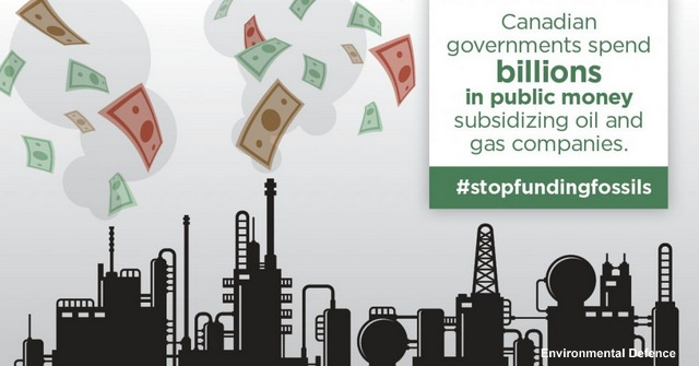 The Madness Continues: Fossil Fuel Subsidies Equal $1,650 Per Canadian, Below2C