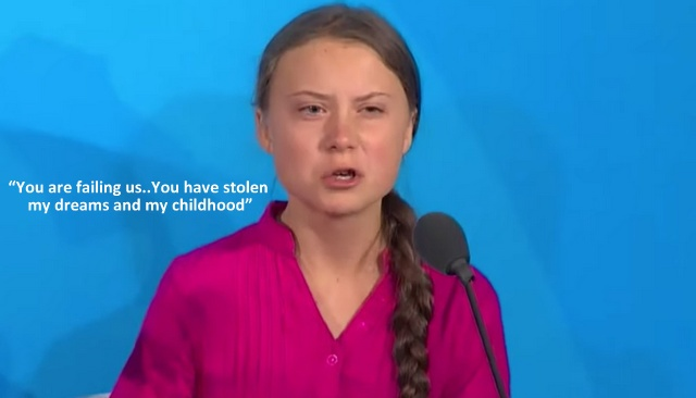 Greta's Message: You Are Failing Us..You Have Stolen My Dreams and my Childhood, Below2C