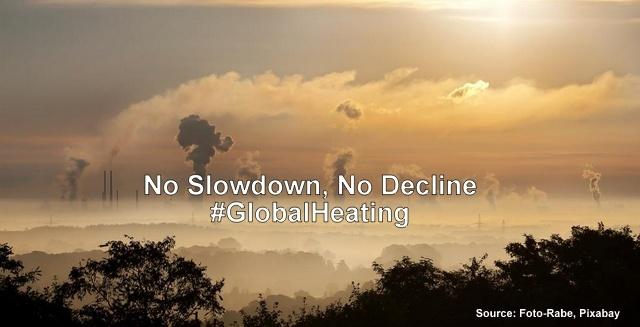 GHGs Show No Slowdown, No Decline: #GlobalHeating Shoots Up, Below2C