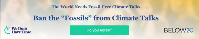 ban the fossil fuel industry from climate talks