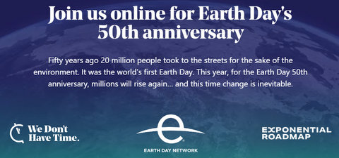 Hi . You're invited to Earth Day's 50th anniversary.