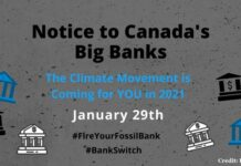 Canada's Big 5 Banks: The Climate Movement Is Coming For You In 2021