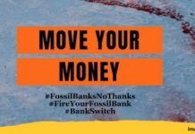 Say NO to Your #FossilBank - It's Time To Move Your Money, Below2C