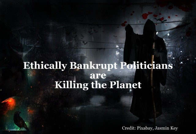 Ethically Bankrupt Politicians Are Killing The Planet, Below2C