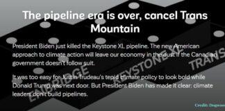The Pipeline Era Is Over. CANCEL TRANS MOUNTAIN, Below2C