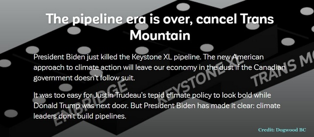 The Pipeline Era Is Over. CANCEL TRANS MOUNTAIN, Below2C