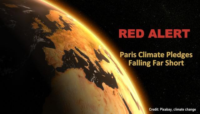 Red Alert: Climate Pledges Falling 'Far Short' of Paris Agreement Targets, Below2C