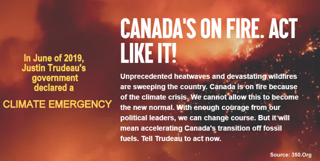 Message to Justin Trudeau: Canada's on Fire - Act Like It, Below2C