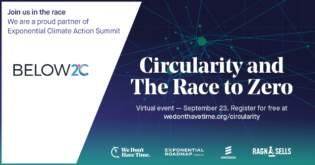 Circularity and The Race to Zero. Click on image to Register.