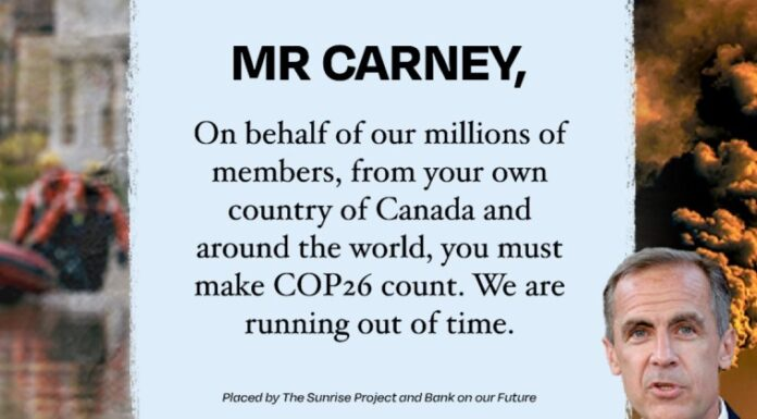 Dear Mark Carney: We're Running Out Of Time, Below2C